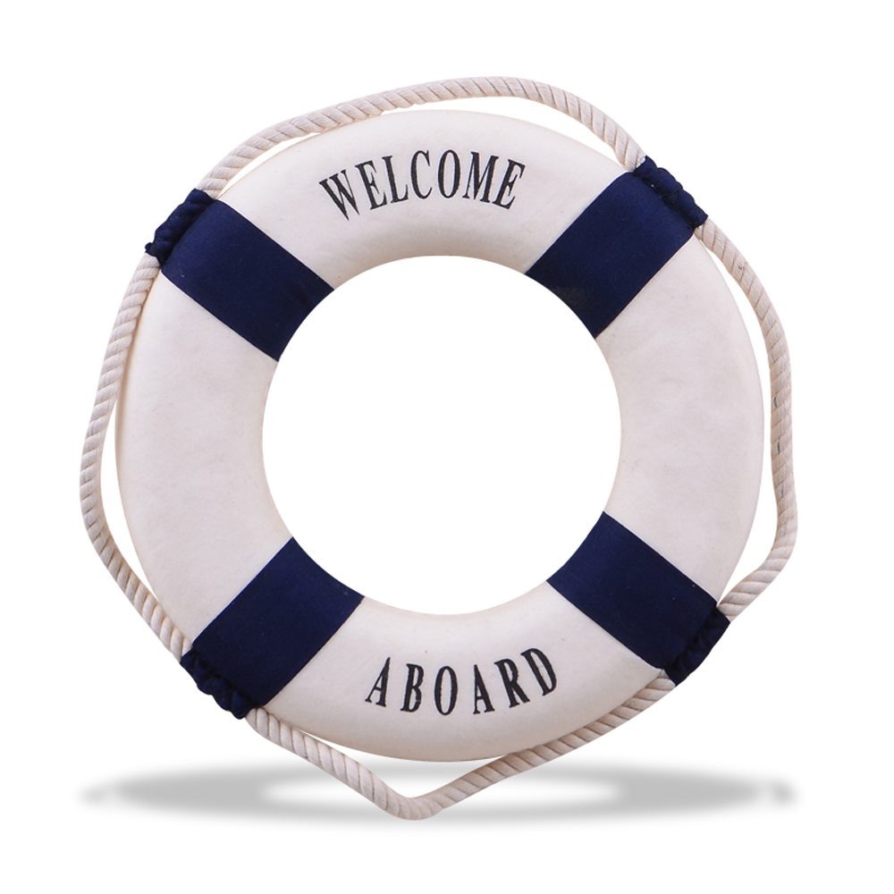 New 1pc Lifering Lifebuoy Rope Hang Welcome Sign Beach Home Wall Nautical Decor